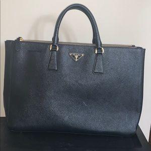 Prada Galleria classic black handbag
